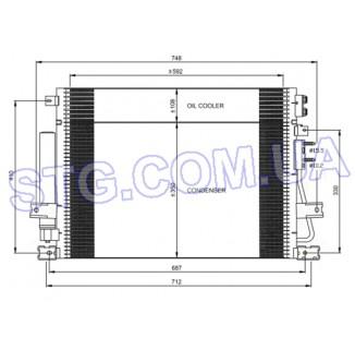 Картинка Радиатор кондиционера NRF 35966